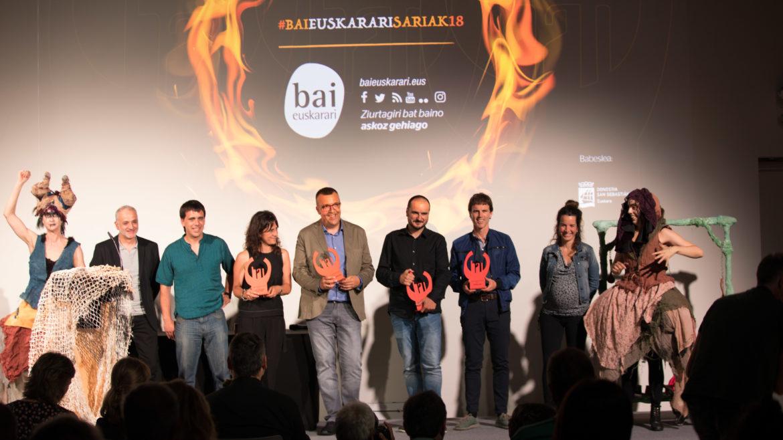 Mitxelena a reçu le deuxième prix de Bai Euskarari 2018